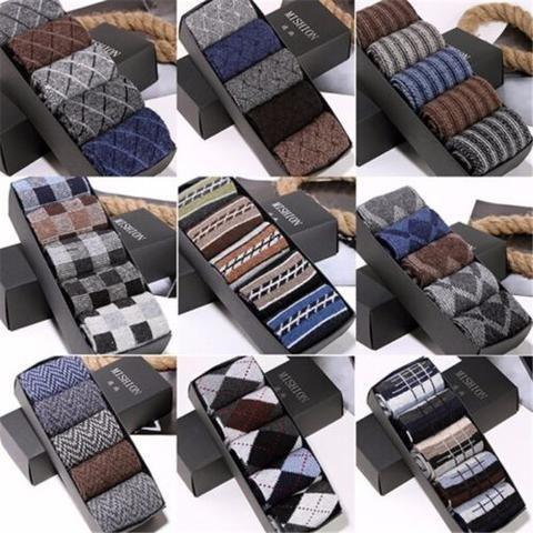 5 pairs/lot Men Wool Socks Winter Cashmere Socks Winter Thickening Thermal Socks