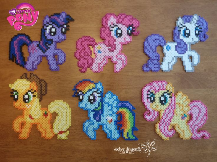 My Little Pony perler beads by RockerDragonfly on deviantart