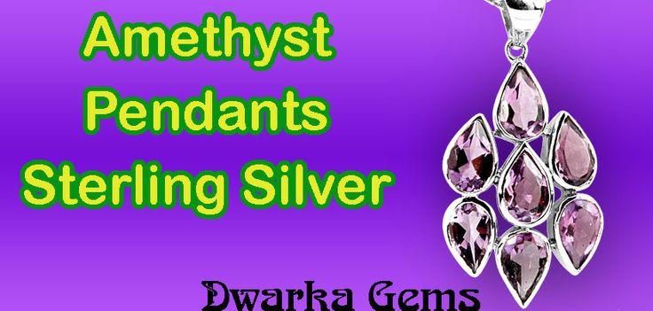 Amethyst Pendants Sterling Silver