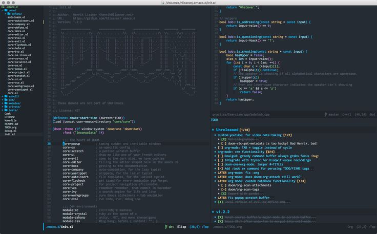 Doom One for Emacs, Based on Atom One