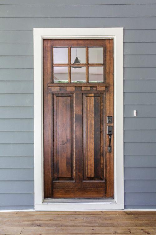 Front Door Walnut Stain That Exterior Color Looks Nice