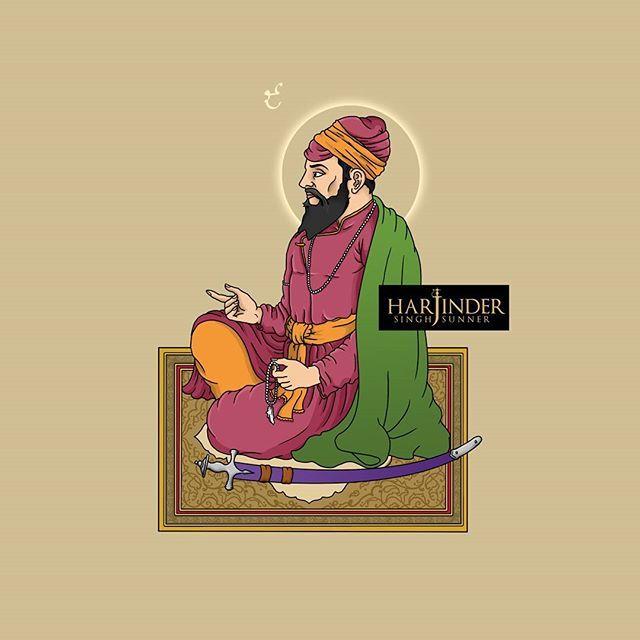 Sri Guru Tegh Bahadur Ji . . . . . . #Waheguru #Guru #Khalsa #Sikh #Sikhism #Love  #Warrior #Art #Illustration #Portrait #Drawing #Ink #Painting #WaterColor #Artist #Artistoninstagram #InstaArt #Beautiful #Sikhi #Kaur #Singh #One