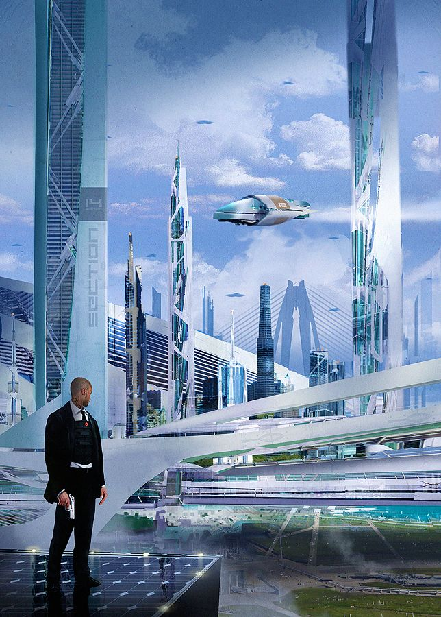 art futuristic cities - photo #31