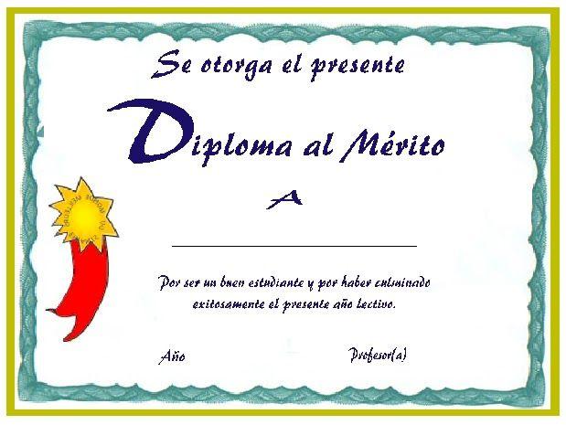 Diseños de diplomas en blanco para imprimir - Imagui