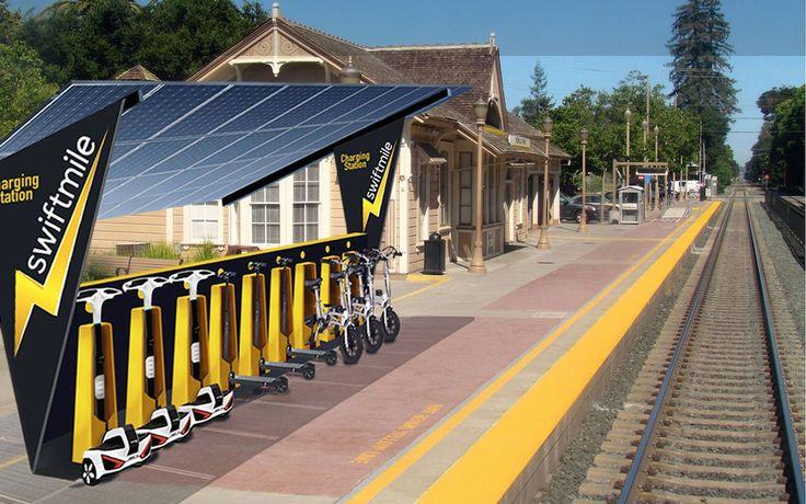 Swiftmile: Solar Powered Electric Bike Rental Stations [VIDEOS]
