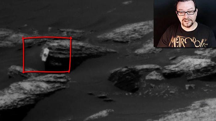 """Hace unos pocos días, el robot marciano Curiosity, efectuó una serie de tomas con sus cámaras de navegación, en ellas aparece algo """"impo..."""