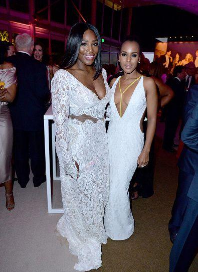 Serena Williams and Kerry Washington                                                                                                                                                      More