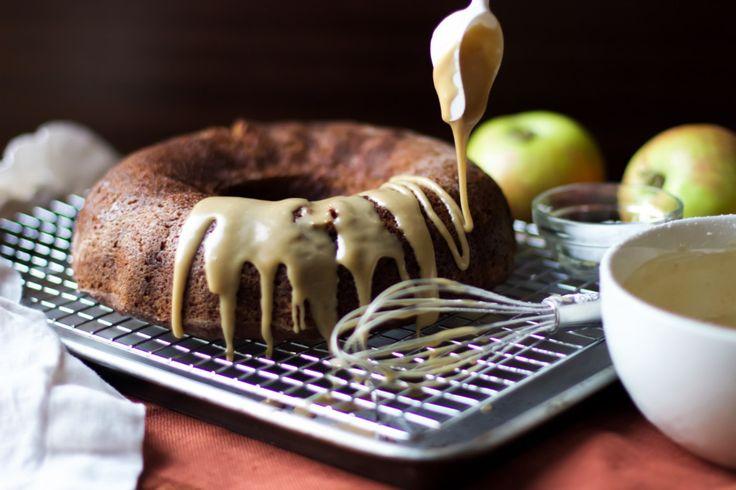 Spiced Applesauce Bundt Cake with Salted Caramel Glaze (gluten free, grain free, dairy free, soy free, vegan, paleo friendly) – From Jessica's Kitchen