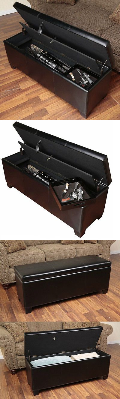 Cabinets and Safes 177877: Gun Safe Hidden Rifle Shotgun Pistol Storage Bench With Cushion Lock Entry Bench BUY IT NOW ONLY: $228.94