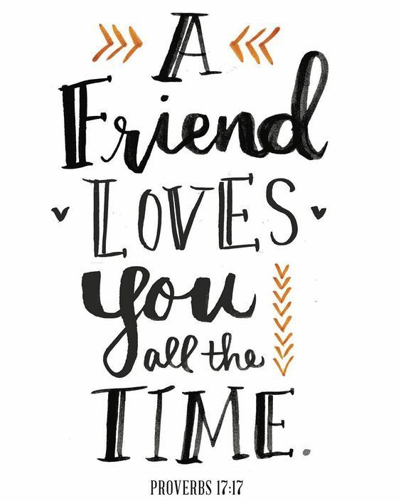 """""""A Friend Loves You All the Time"""""""
