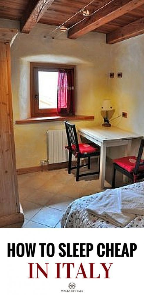 A beautiful, sunny, pension room in Italy. You can book cheap accommodation like this if you know where to look.