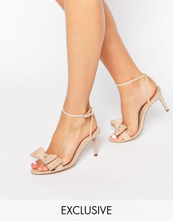 Office Molly Bow Barely There Mid Heeled Sandals