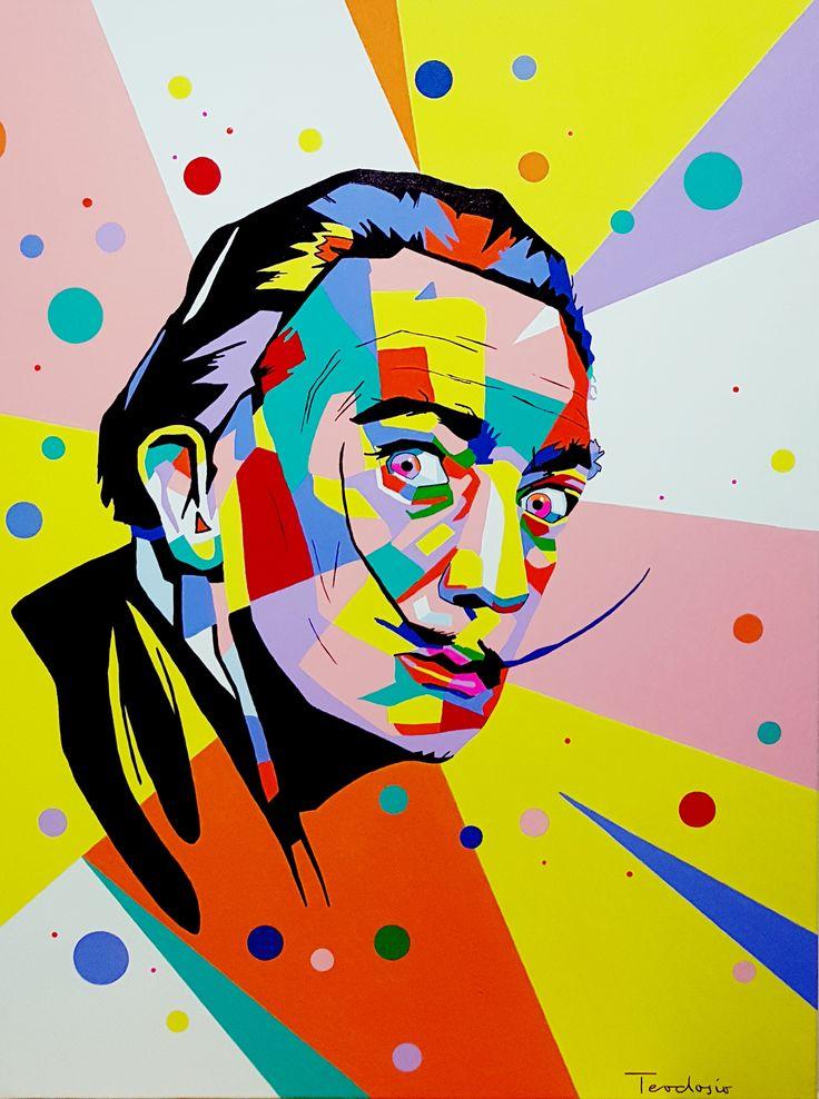 Salvador Dali pop art ... #teodosio #art #popart #dali #salvadordali #teodosiosectioaurea #myart