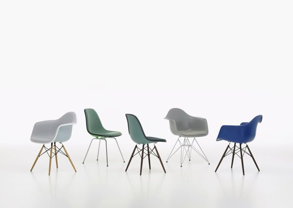 Eames Plastic Chair   Group Green Blue.