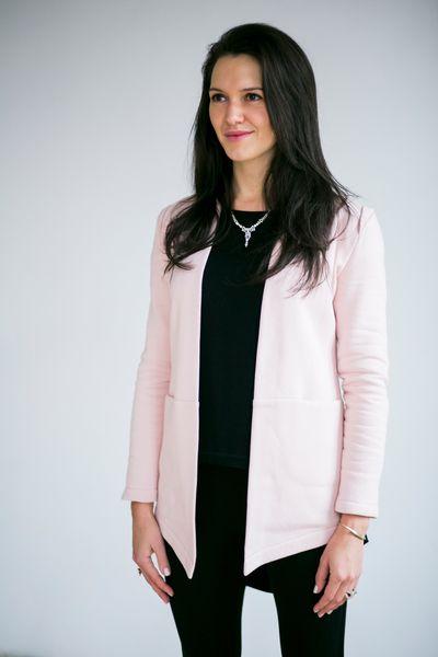 OPEN OFFICE powder pink #riskmadeinwarsaw #pastel #jacket #fashion #casualstyle #classy #look #elegance #jewellery