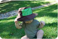 DIY Sun Hat for Baby...or nieces...too cute!