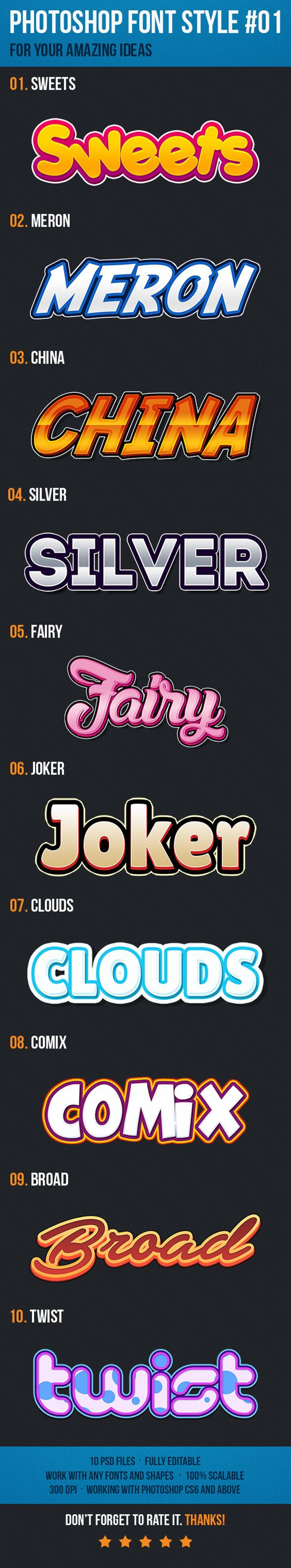 10 Text Style Effects for Game Logo #01 Download for free this month!