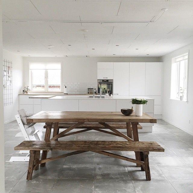 Plankebord i massive planker   langborde   massive spiseborde ...