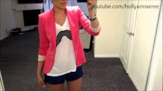 OOTD - Color Blocking a Mustache - Pink Blazer Outfit of the Day