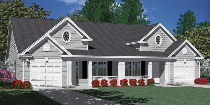 Best 25 duplex house plans ideas on pinterest duplex plans duplex floor plans and duplex house for Duplex plans for seniors