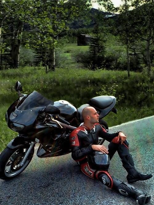 Photo de motard gay