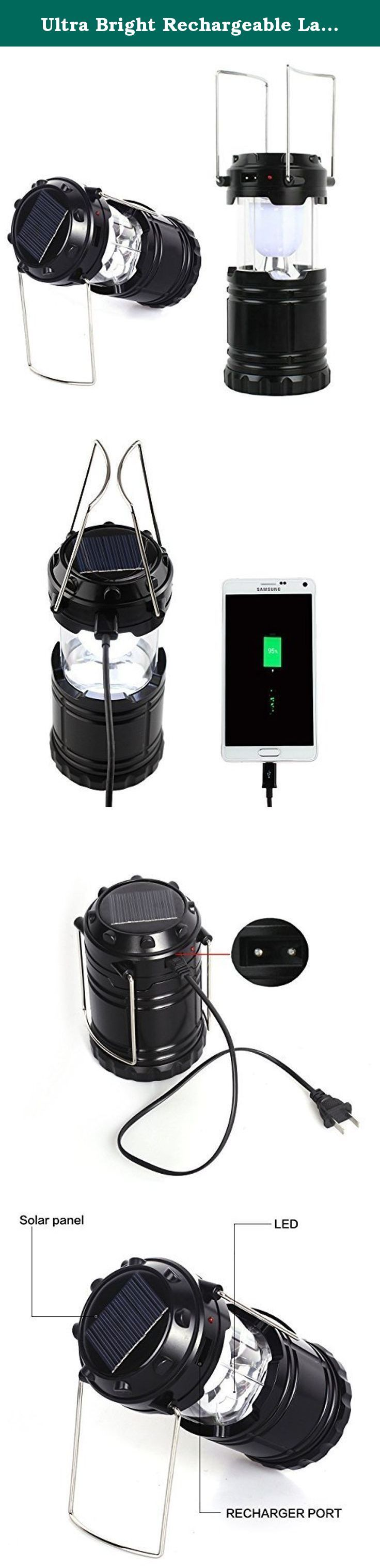 Ultra Bright Rechargeable Lantern , Solar Camping Lantern Powered Led,portable Camping LED Light,usb Charging,battery Power,ideal for Hiking, Camping,fishing,sports, Emergencies, Hurricanes, Outages. Description: Top solar design,solar charging,environmental protection,close to nature,innovative fashion Unique engaging design, portable,also can be hung anywhere, easy to use High-powered LED lamp beads Equipped with USB output charging a USB device, suitable for camping, reading, fishing…