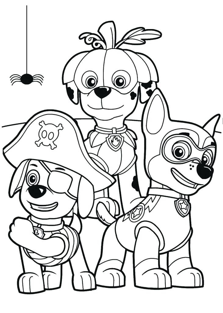 Paw Patrol Colouring Pages Nick Jr Tips