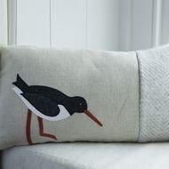 Oyster Catcher Handmade Line cushion