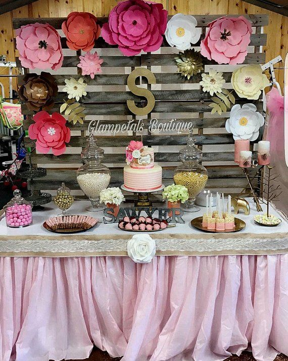 Shabby Chic Partypaper Flower Backdrop Decorations In 2019