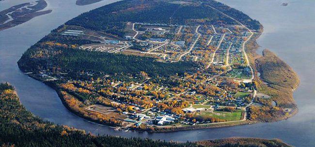 Moose Factory aerial