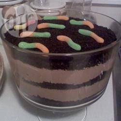 Rezeptbild: Schlamm mit Würmern für Halloween