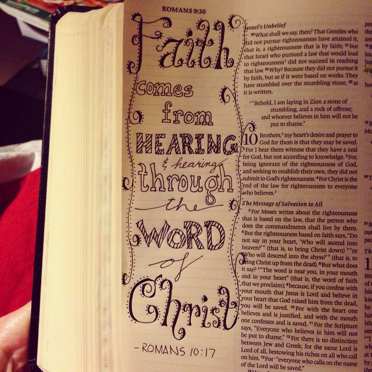 Idea From @livingsolideogloria (IG) Romans 10:17