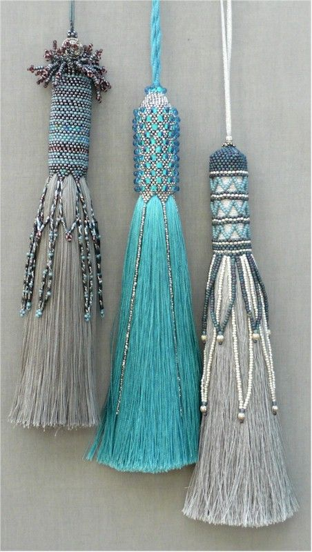 "Makes me think of ""Frozen."" That's not a bad thing, it's been that kind of year. Love these beaded tassels  - Clare Matthews"