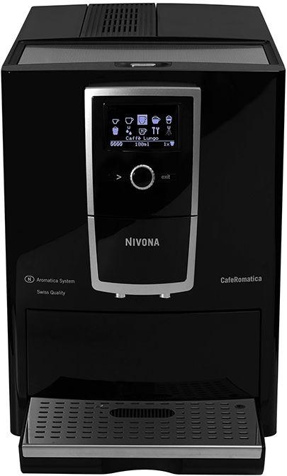 Nivona CafeRomatica 830  Nivona CafeRomatica 830: Perfect koffiegenot! Geniet met de Nivona CafeRomatica 830 van een perfect koffie genot. Deze machine is nog eenvoudiger en fraaier dan voorheen en een heerlijkebak koffie was nog nooit zo snel gezet. De CafeRomatica 830 beschikt over een ECO-Mode en 0 Watt schakelaar. Door de geruisloos hoogwaardige koffiemolen is het geenprobleem om 's ochtends al te genieten van koffie. Geniet daarnaast met één druk op de knop van een kopje cappuccino…