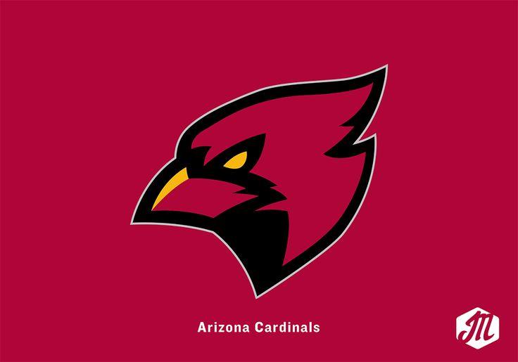 Arizona Cardinals By Jordan Musall Sports Logo Design Mascot Design Bird Logos