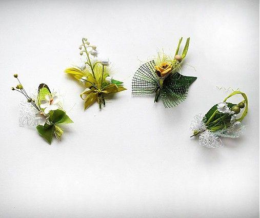 Ladíte vašu svadbu do zelena?Chcete  byť originálni? Tak prečo nedať svojim svadobčanom trošku netypické svadobné pierka-minikytičky vo farbe vašej svadobnej kytice alebo výzdoby?   Vyberte si z vys...