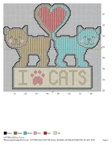 KITTEN LOVE by TRICIA -- WALL HANGING