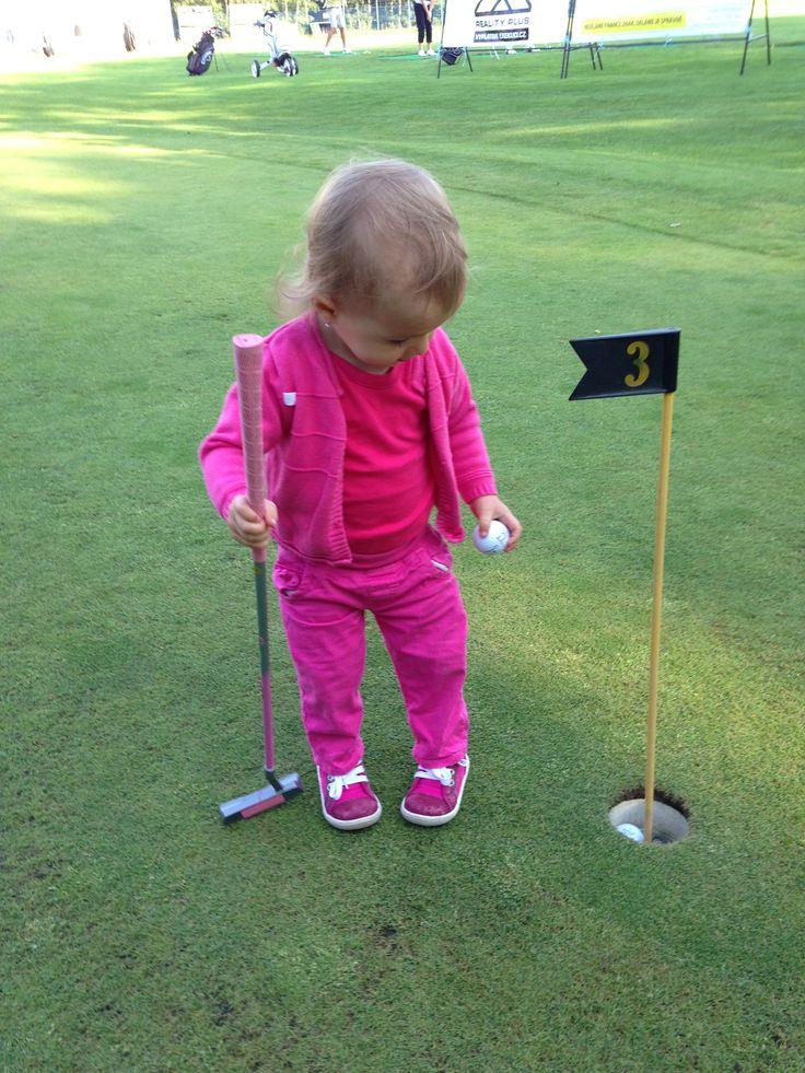 Poprvé na golfu