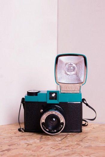 Blue Diana F analog Camera by Lomography