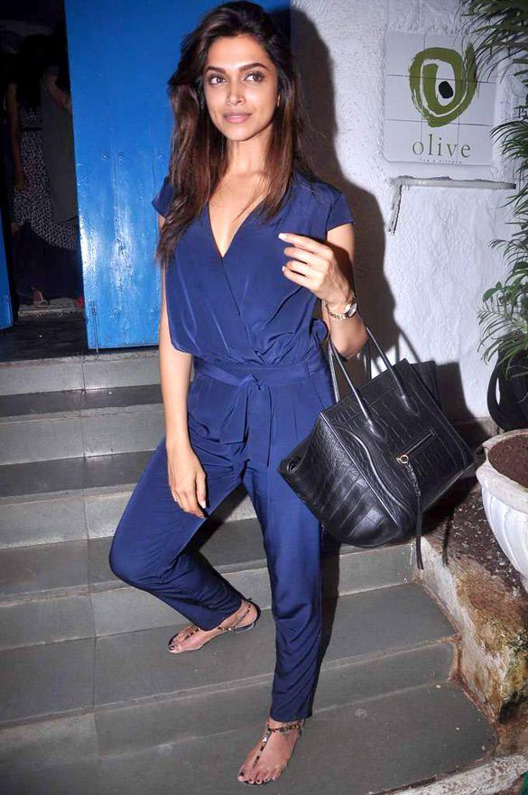 Reallycute Blue Jumpsuit 9254 036592 Deepika Padukone Style Bollywood Fashion Fashion