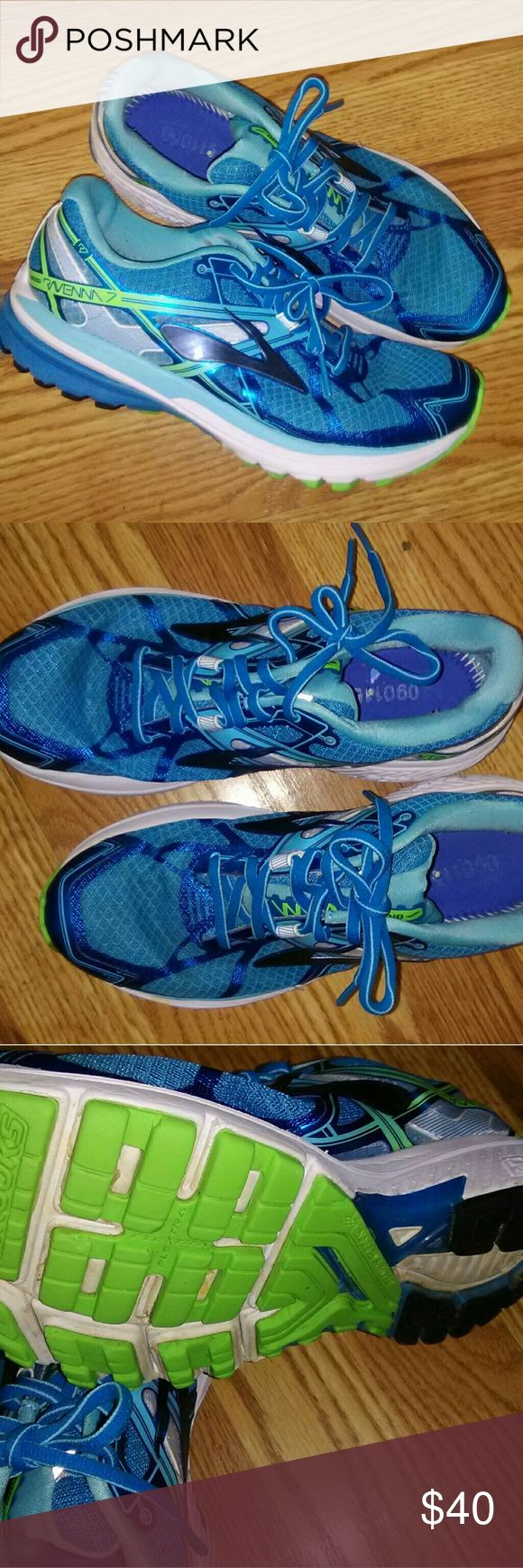 Brooks Ravenna Running Shoes Excellent condition Turquoise in Color Super cute and comfy Brooks Shoes Athletic Shoes