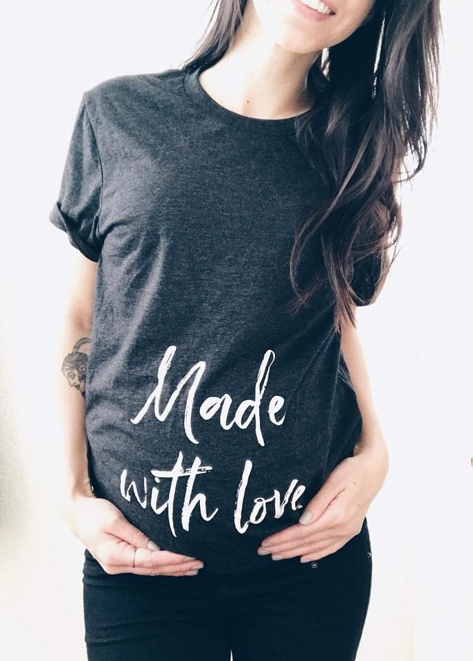 011db8b7a Made with love maternity tee / Pregnancy announcement / baby announcement / Baby  bump graphic tee