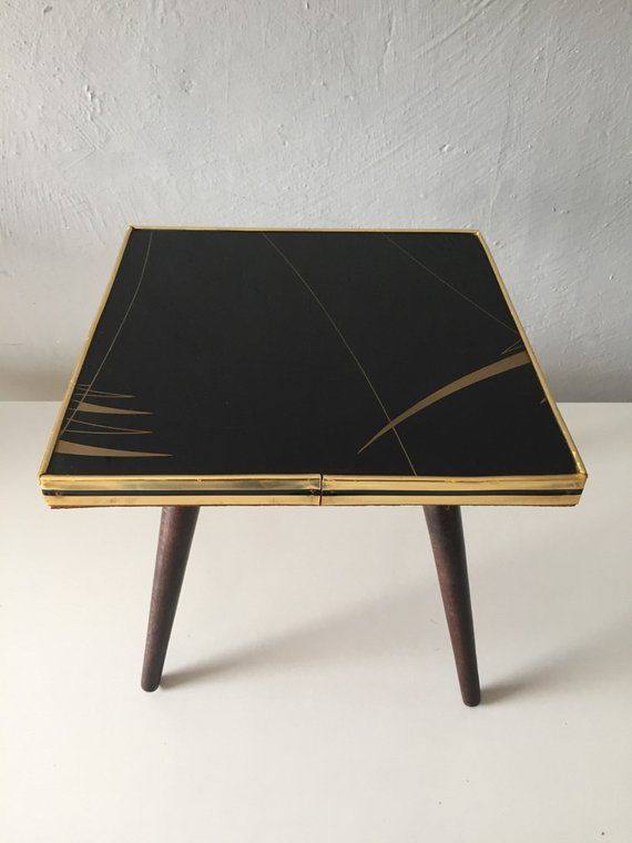 Mid Century Modern Square Coffee Table Plant Stand 4 Etsy
