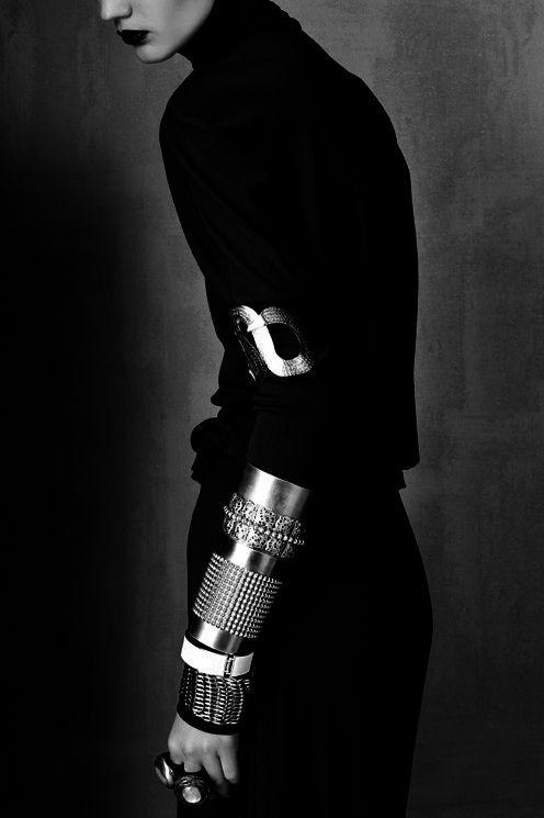 Oskar Cecere: Cunard Inspiration, Nancy Cunard, Arm Cuffs, Stacking Bracelets, Dark Natural, Dark Side, Oskar Cecer, Darker Side, Arm Parties