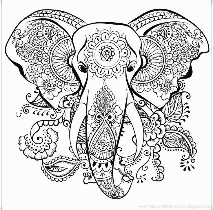 neu malvorlagen tiere drucken | elephant coloring page