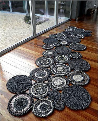 Картинки по запросу коврики из ткани своими руками на шнуре