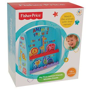 Fisher-Price+My+First+Animal+Friends+Wooden+Puzzle