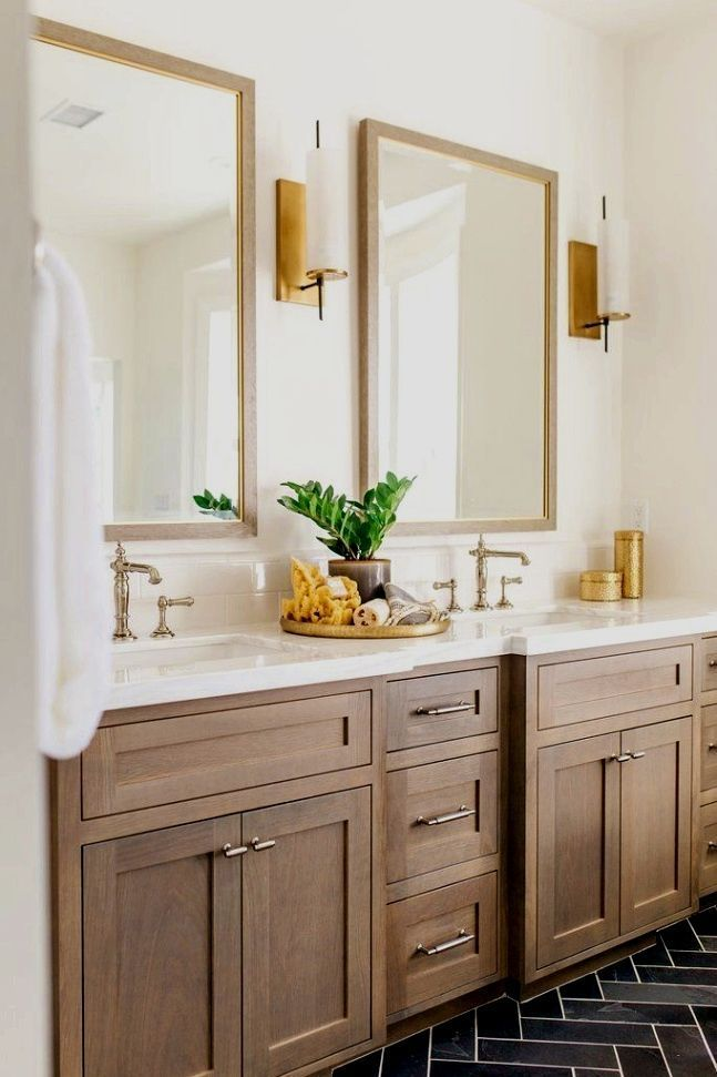 Double Bathroom Vanity Designs Ideas Locate This Pin And More On Contemporary Enhancing Ideas By Wood Bathroom Cabinets Bathroom Remodel Master Wood Bathroom