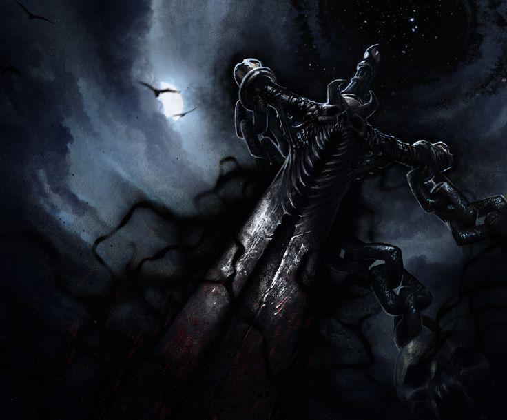 Black Blade of the Void, Piotr Uzdowski on ArtStation at https://www.artstation.com/artwork/AQgZz