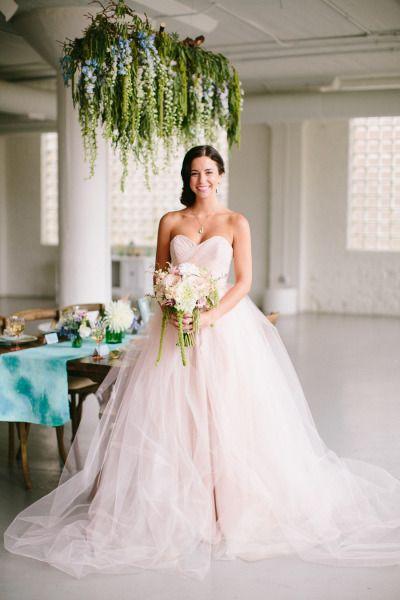 Pink Wedding Dress Dream Meaning : Blush wedding flowers pink dress and flower